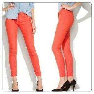 NWOT Blank NYC Orange Skinny Jeans
